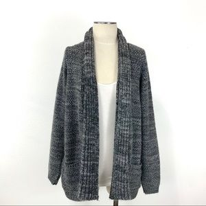 Sparkle & Fade- Gray Open Cardigan Size Medium